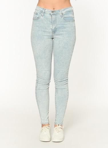 Levi's® 227910177 Mile High Super Skinny Collis Yüksek Bel Dar Paça Super Skinny Kadın Jean Pantalon İndigo